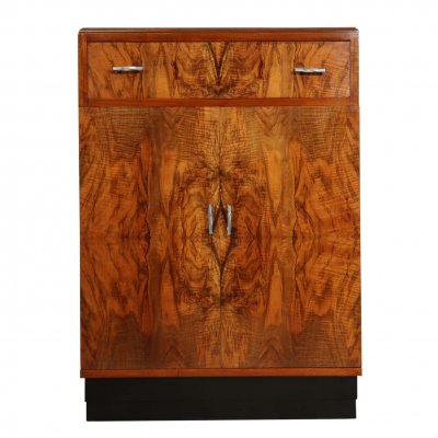 Art Deco Walnut Cabinet, c1930