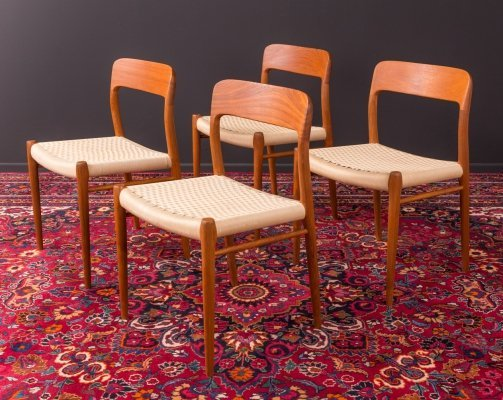 Set of 4 dining chairs by Niels O. Møller, Denmark 1950s