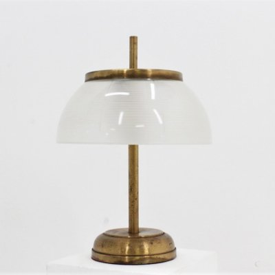 Mid century brass & glass desk lamp by Sergio Mazza for Artemide, 1960s