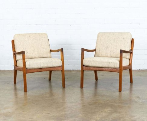 Pair of Senator arm chairs by Ole Wanscher for France & Son, 1950s