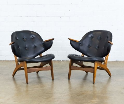 Pair of Model 33 lounge chairs by Carl Edward Matthes for Matthes Furniture, 1950s