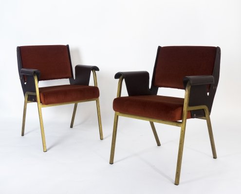 Pair of 'Albenga' armchairs by Gustavo Pulitzer Finali for Arflex, 1955