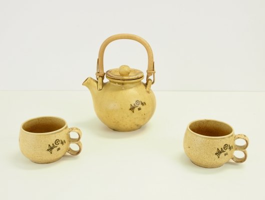 Seventies teapot + 2 mugs by Peter Winquist & Risto Paater for Pentik Finland