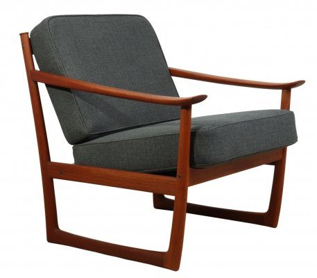 Teak Chair Model 130 by Peter Hvidt for France & Son