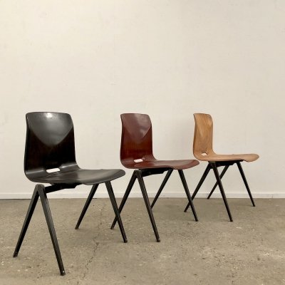 Vintage S22 school chairs by Galvanitas, 1970s