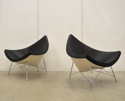 2 x Coconut lounge chair by George Nelson for Vitra, 1990s