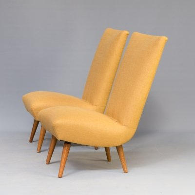 Pair of lounge chairs by G. van Os for Van Os Culemborg, 1950s