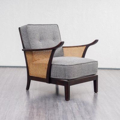 2 x Vintage Midcentury Armchair With Meshwork, 1950s