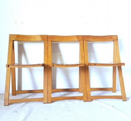 Set of 3 folding chairs by Aldo Jacober for Alberto Bazzani