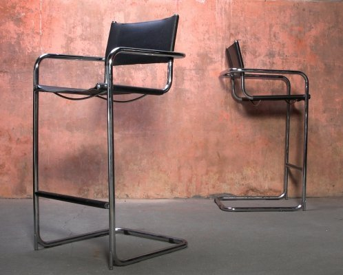 Set of two barstools by Mart Stam for Thonet, 1970s