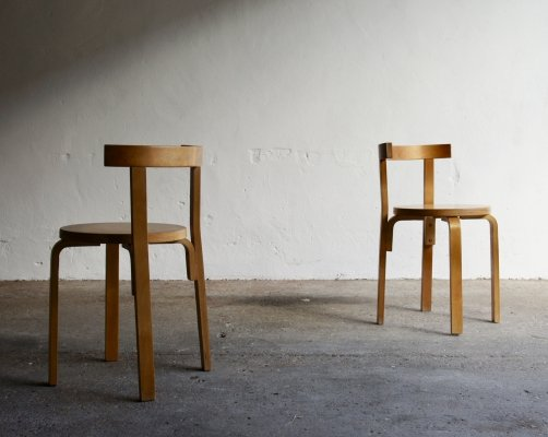 Pair Of Bentwood Dining Chairs, 1970s