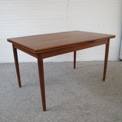Vintage extendable dining table by Niels O. Moller, 1960s