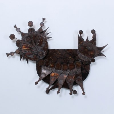 Large Metal Animal Wall Sculpture by Henrik Horst, 1950s