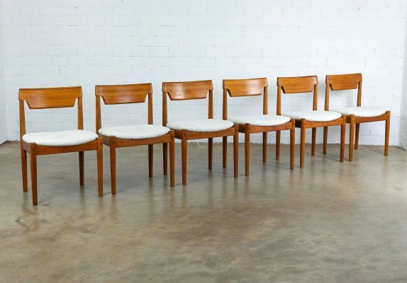Set of 6 Glostrup Møbelfabrik dining chairs, 1960s
