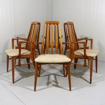 Set of 6 Eva dining chairs by Niels Koefoed for Koefoeds Hornslet, 1960s