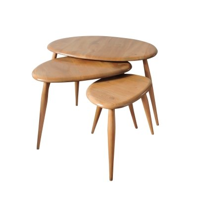 Mid-Century Pebble Nesting Table set by Lucian Ercolani for Ercol, 1960s