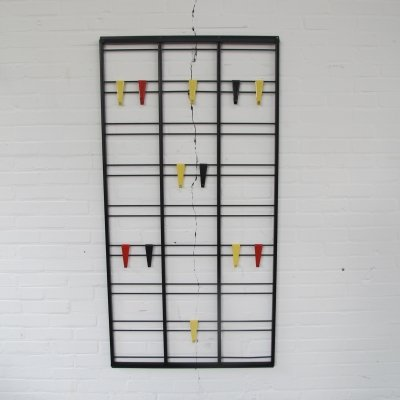 Black metal 'Toonladder' coat rack by Tjerk Reijenga for Pilastro, 1950's