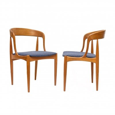 Set of 2 Teak Dining Chairs by Johannes Andersen for Uldum