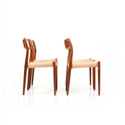 Set of 4 Model No.79 Dining Chairs in Teak by Niels O.Moller, 1960s