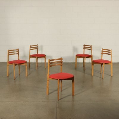 Set of 5 Chairs, 1960s