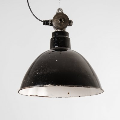 Industrial German Ceiling Lamp by Leuchtenbau Leipzig, 1950s