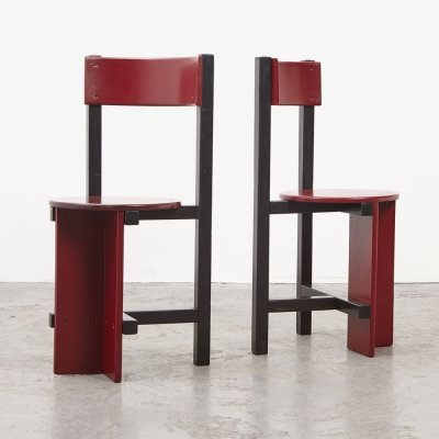 Pair of Bastille Chairs by Piet Blom for Huizenga, 1965