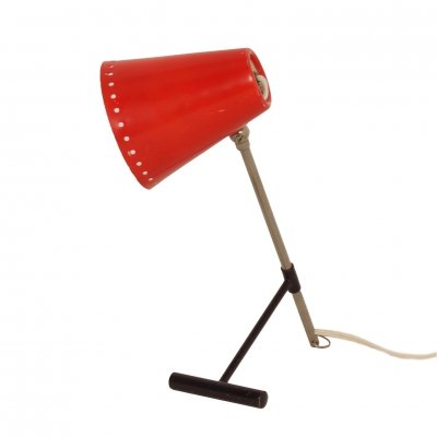 Red Bambi Table Lamp by Floris Fiedeldij for Artimeta, 1950s