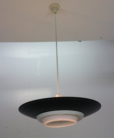 Louis Kalff for Philips Industrial Ceiling Lamp, Dutch Design 1950s