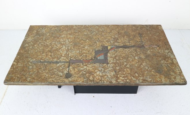 Brutalist Paul Kingma One-Off Artwork Coffee Table, 1980s