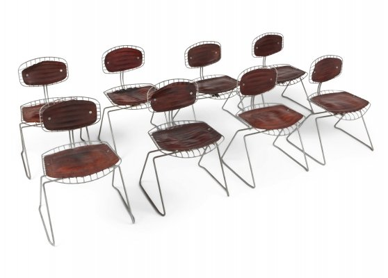 Beaubourg Wire Chairs by Michel Cadestin for Centre Pompidou, 1977