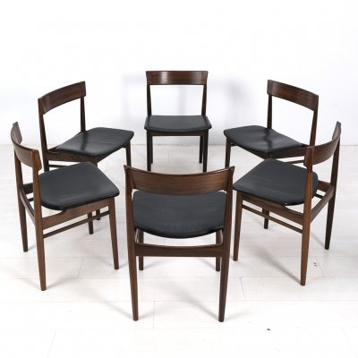 Set of 6 Henry Rosengreen Hansen chairs, 1960s