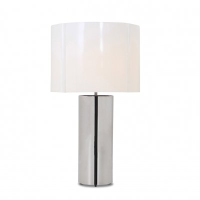Gaetano Sciolari chrome table lamp with plastic shade, Italy 1970s