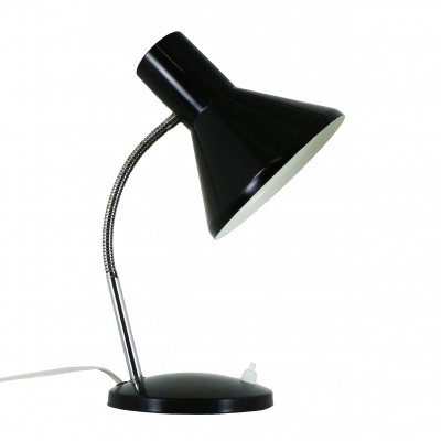 Black retro desk light, 1970s