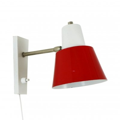 Red & white wall lamp by Hala Zeist, 1970s