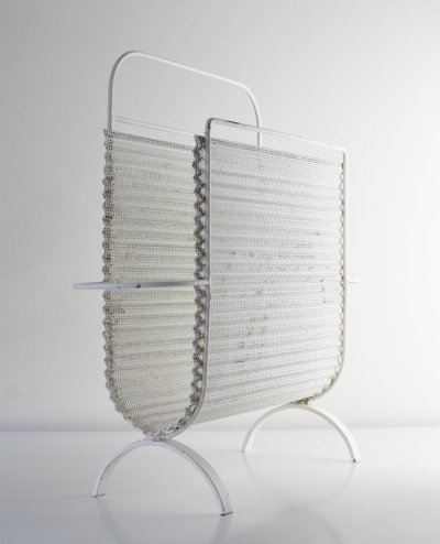 1956 Mathieu Matégot 'rigitule' magazine holder