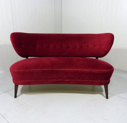 Two-seats sofa by Otto Schulz, Sweden 1950s