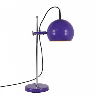 Adjustable Retro purple globe desk lamp, 1970s