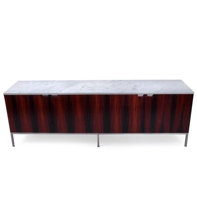 Vintage Florence Knoll Marble Top Credenza, 1970s