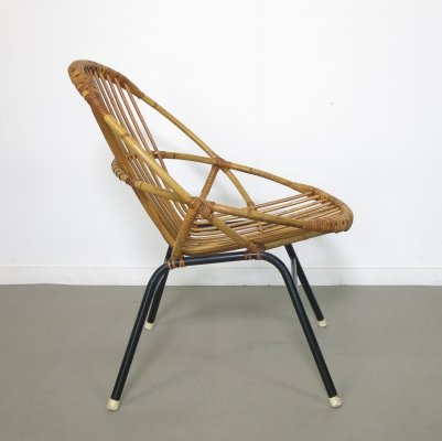 Small rattan chair by Rohé Noordwolde