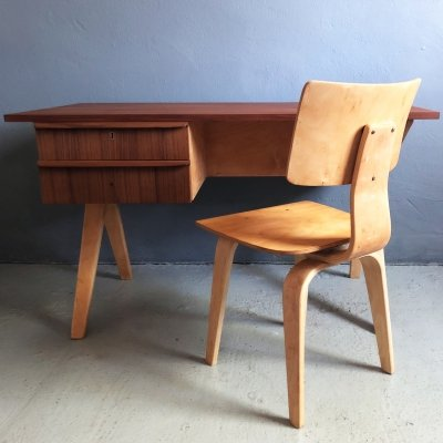 EB02 desk & SB02 chair set by Cees Braakman for Pastoe, 1950s