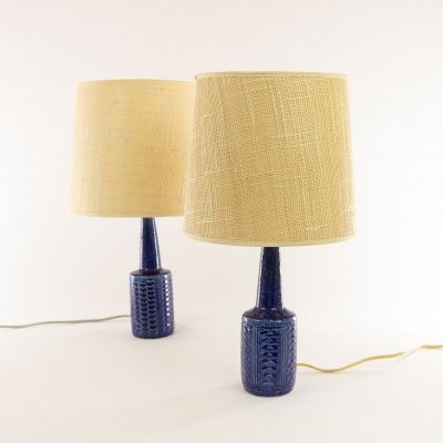 Pair of cobalt table lamps DL/21 by Annelise & Per Linnemann-Schmidt for Palhus
