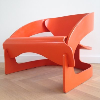 Model 4801 arm chair by Joe Colombo for Kartell, 1960s