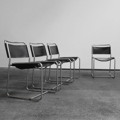 Set of 4 chairs by Claire Bataille & Paul Ibens for 't Spectrum, 1970s