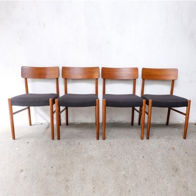 Set of 4 Teak Dining Chairs, 1950s