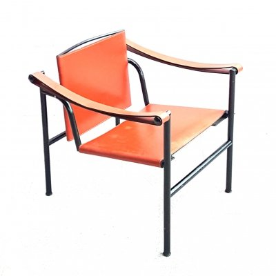 Original vintage Le Corbusier LC1 armchair for Cassina, Italy 1980s