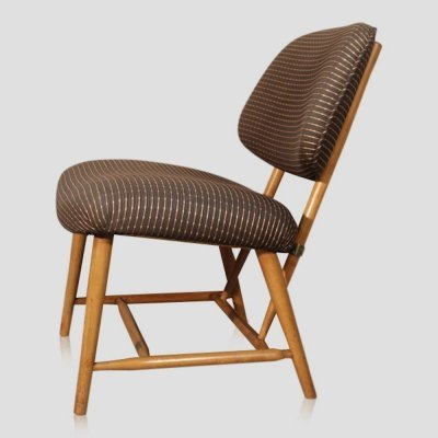 Vintage Scandinavian lounge chair by Alf Svensson for Bra Bohag, 1950s