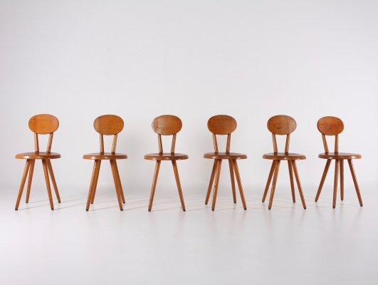 Set of 6 modernist chairs, 1960s