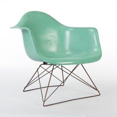 Turquoise Herman Miller Original Vintage Eames LAR Lounge Arm Chair