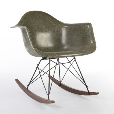Olive Green Herman Miller Original Eames RAR Rocking Arm Chair