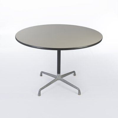 White Herman Miller Original Vintage Eames Round Contract Table